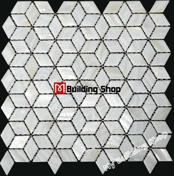 Diamond white mother of pearl mosaic backsplash shell bathroom tiles MOP005 sea shell mosaic kitchen wall tiles