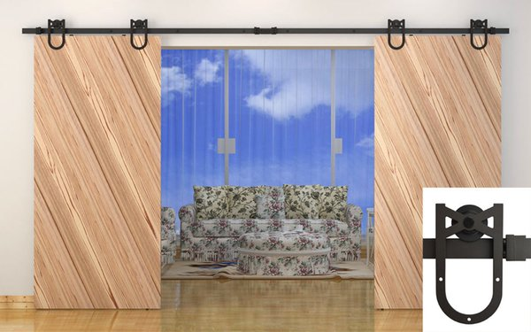KIN MADE MM-20X-D Double Sliding Barn Door Heavy duty modern wooden sliding barn door hardware
