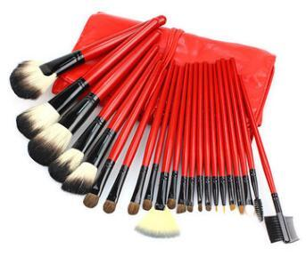 22 Pcs/Set Red Color Makeup Brushe Sets Cosmetics Brush Make-up Brush Make Up Tools Kits