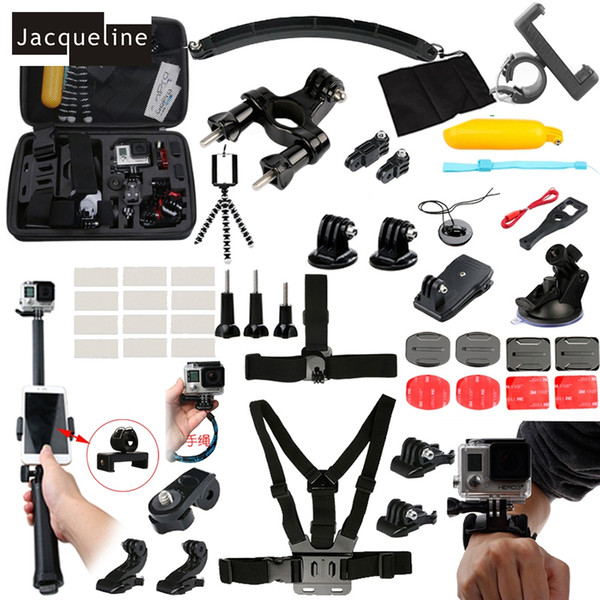Freeshipping Accessories Kit Three Way Mount Holder For GoPro hero 5 4 3+ Xiaomi yi /SJCAM SJ6000 SOOCO EKEN H9R Camera