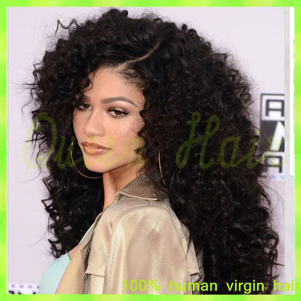 8A Human Hair Afro Kinky Curly Lace Wig Brazilian Virgin Hair Short Kinky Curly Full Lace Wigs With Baby Hair For Black Women