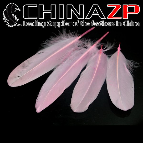 Leading Supplier CHINAZP Crafts Factory 10~15cm(4~6inch) Selected Top Quality Dyed Baby Pink Goose Satinettes Feathers for Mask Decoration