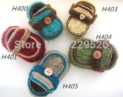 2015 charming cute baby shoes handmade white Crochet Baby Booties / soft baby toddleBaby Boy Booties Boy's Mocca for 0-12months baby shoes