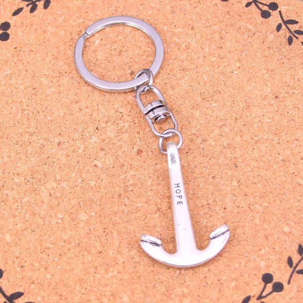 New Arrival Novelty Souvenir Metal anchor hope sea Key Chains Creative Gifts Apple Keychain Key Ring Trinket Car Key Ring