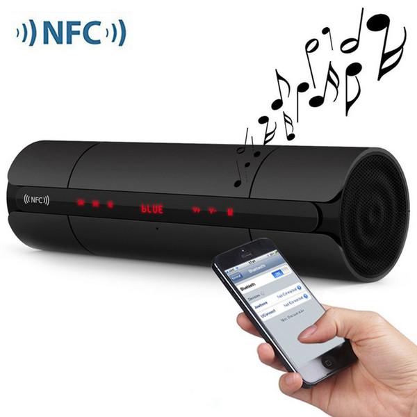 Moda KR8800 Cilindro NFC Sem Fio Estéreo Bluetooth Speaker Com Bass FM TF Cartão de Memória USB Drive Música 3.5mm de Entrada de Áudio.