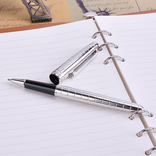 High-end Engraved Design Silver Rollerball Pen 1pc/lot Black Ink MB Sign Pens The Best Business Office Chritmas Gift for Friends