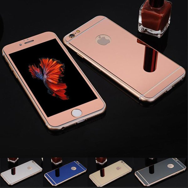 Colored Tempered Glass Film Screen Protector Color Plating Mirror Membrane Explosion Proof 9H For iphone7 iPhone 6s 6plus 5s Front and Back