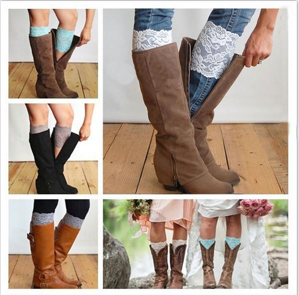30pairs / lot Weihnachten Short Lace Stulpen Stiefel stricken häkeln Knie Stulpen Boot Manschetten Boot Toppers für Frauen Winter Boot Socken K6088