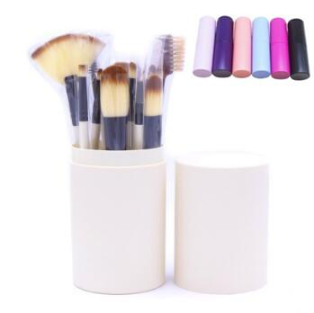 12pcs/set Eye Makeup Brushes Sets Eyeshadow Eyeliner Blending Pencil Cosmetic Brush Tools Kit Makeup Brush Set With Round Box CCA8046 30set