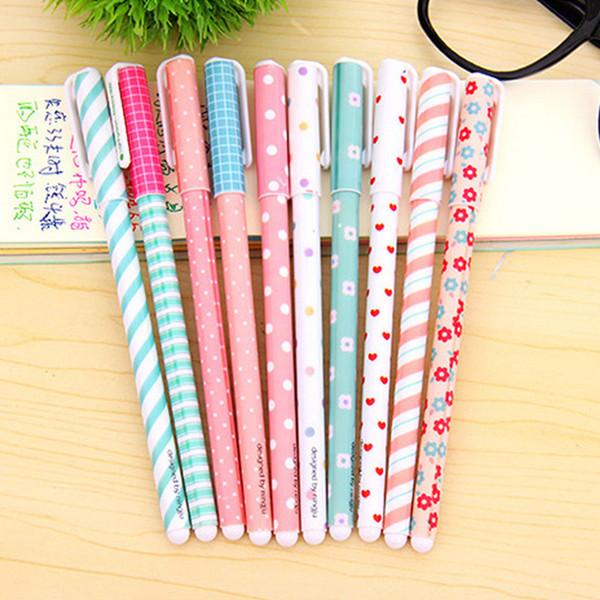 Wholesale-10 Pcs/set New Cute Cartoon Colorful Gel Pens Set Kawaii Korean Stationery Creative Gift School Supplies 0.38mm