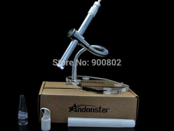 Satın al 2mp dijital mikroskop 500x 8led usb mikroskop pcb muayene