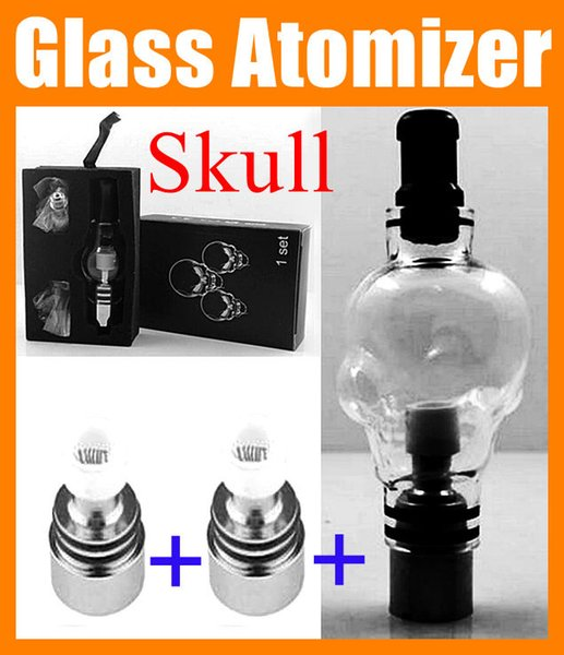 Skull Globe Glass Atomizer ego 510 Wax Tank 4.0ml huge Vapor E-Cig Vaporizer Atomizer Fit For EGO Series with box ATB016