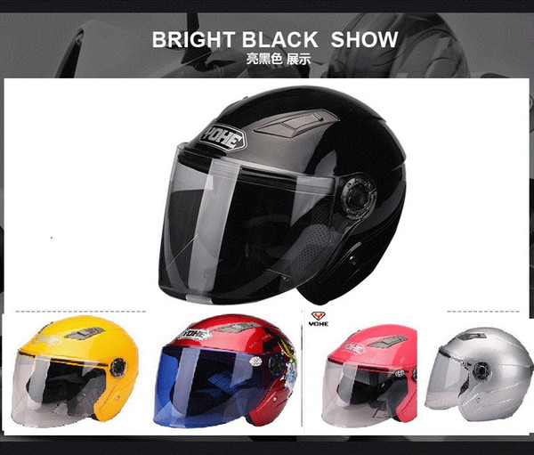 Wholesale-2014 Super Jet Helme Motorrad Helm Open Face Dirt Bike Capacete Winter Helme Sport Racing Casco Yohe YH837