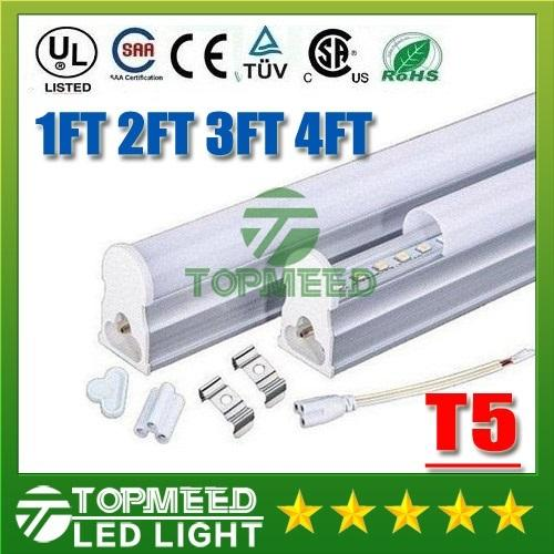 CE UL Integrated 1.2m 1ft 2ft 3ft 4ft 22W T5 Led Tube Light 96Leds 2200lm Led lighting Fluorescent Tubes Lamp lights 55555