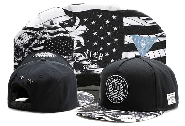 Hot Style Cayler sons FUCKIN' PROBLEMS 99 black brand snapback cap baseball hat for men women sport hip hop mens womens street hats TYMY 267