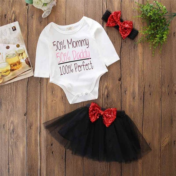 Birthday Party Princess Outfit Bodysuit Ruffle Black Tutu Skirt 2018 New Style Girls Clothing Set 3pcs Bodysuit Tutu Skirt Shinny Bow