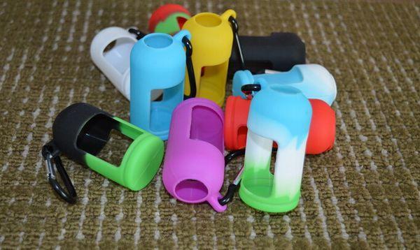 Colorful Eliquid Bottles Soft Pouch Silicone Case Protective Case Fit Liquid Bottle E Cigarette Rubber Sleeve Protective Cover DHL Free