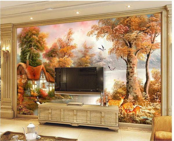 Personnalisé photo fond d'écran 3D stéréoscopique Peintures de paysage TV fond 3d papier peint mural 201515121