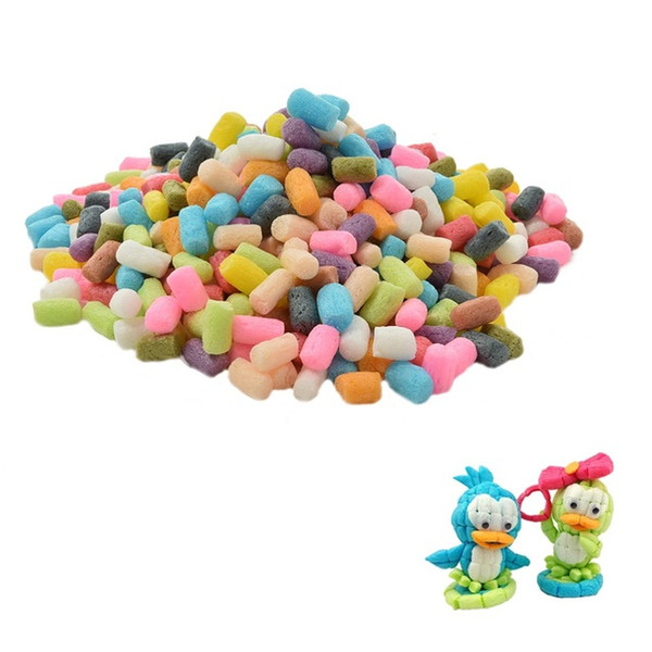 best selling 1000pc lot Starch Miou Baby Kids Building Blocks Magic Corn Plasticine Children Child Toy kernels Xmas Gift hight quality