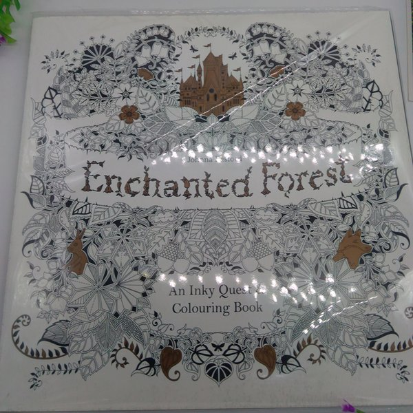 2015 Best Sales Edition Enchanted Forest Secret Garden An Inky Quest Coloring Book For Relieve