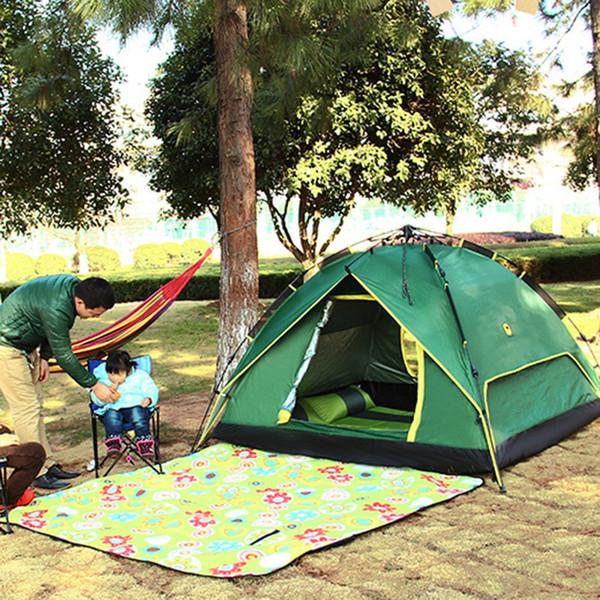Toptan-2-3 Kişi Rahat Taşınabilir Tam Otomatik Çadır Yağmur Geçirmez Çadır Çift Katmanlar Açık Kamp Yürüyüş piknik Balıkçılık Çadır Yeni