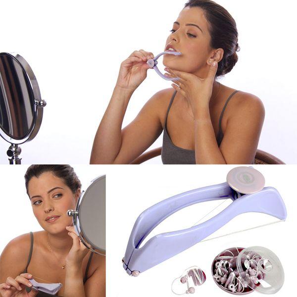Facy And Body Hair Removedor De Rosca Sistema Manualmente Rosto Facial Depilador Beleza Ferramenta Frete Grátis