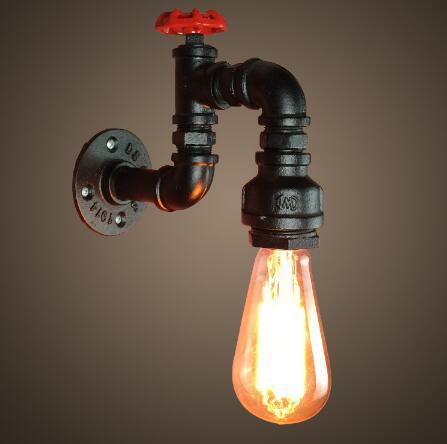 Grosshandel Retro Wasserhahn Vintage Wandleuchten Eisen Rohr Lampe Applique Murale Leuchte Licht Fur Zuhause Bad Lampe Kingchip Von Lightszone 44 23