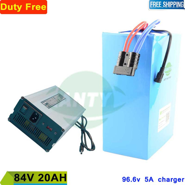 84v Batería 20ah 2500w Batería eléctrica para bicicleta 84v Construida en 30A BMS con 96.6v 5A Batería de iones de litio 84v Envío gratis