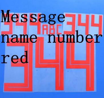 Message name number red