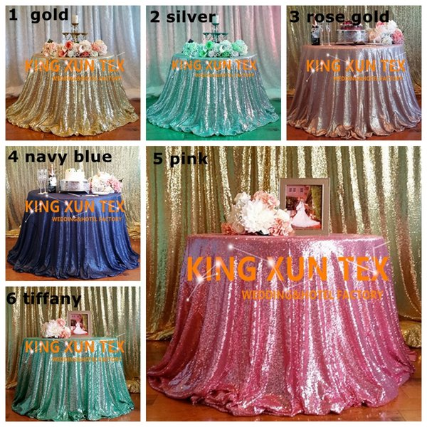5pcs Lot Sequin Table Cloth \ Cheap Wedding Tablecloth For Wedding And Event Decoration Free To Door Shipping