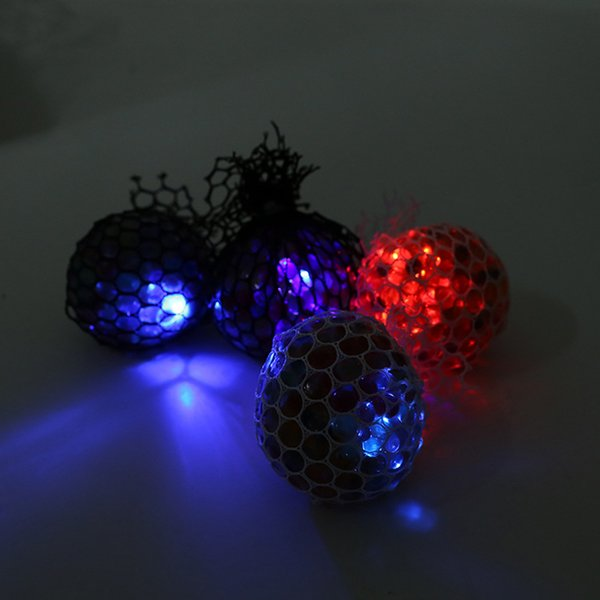 6cm LED luminous Cute Anti Stress Face Reliever Grape Ball Autism Mood Squeeze Relief Healthy Toy Chameleon lamp Grape toys B
