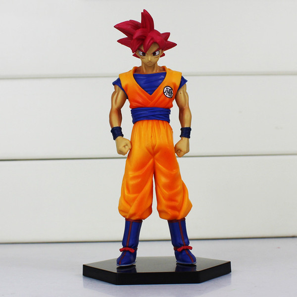 Anime Dragon Ball Son Gokou Figures Super Saiyan God Son Goku PVC Action Figure Toys Collectible Model Dolls 16cm 5pcs