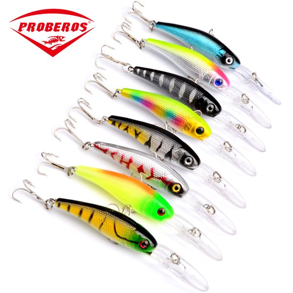 8PC/Lot Top Quality Fishing Lures 10.1cm/7.8g fishing tackle 8 color Minnow fishing bait DW1035