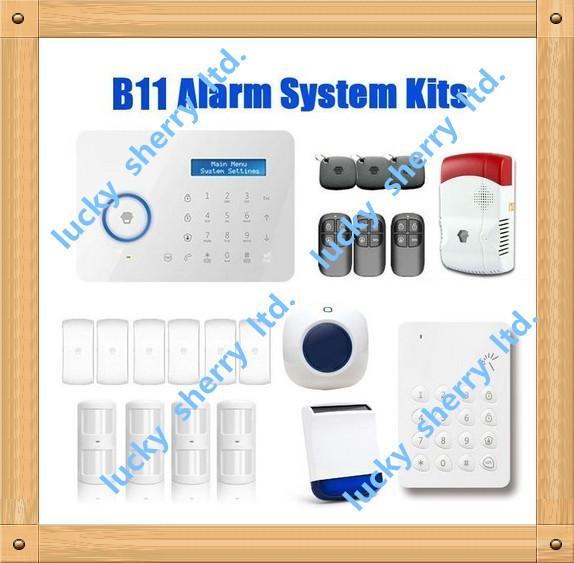 Chuango B11 Wireless Touch Keypad GSM Phone SMS SIM CARD / PSTN Home Security Burglar Alarm System Batter Life