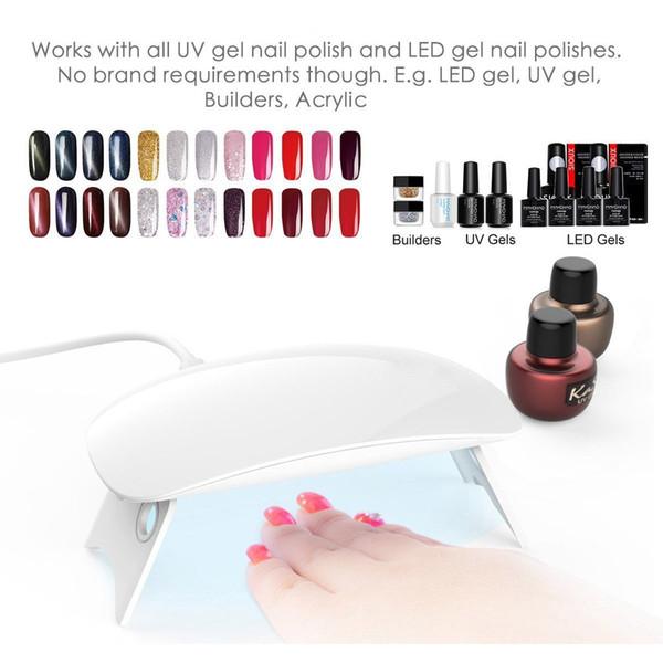 SUNmini 6W LED UV Neil Light Dryer Curing Lamp Light Portable for Gel Based Polishes Manicure/Pedicure 2 Timing Setting