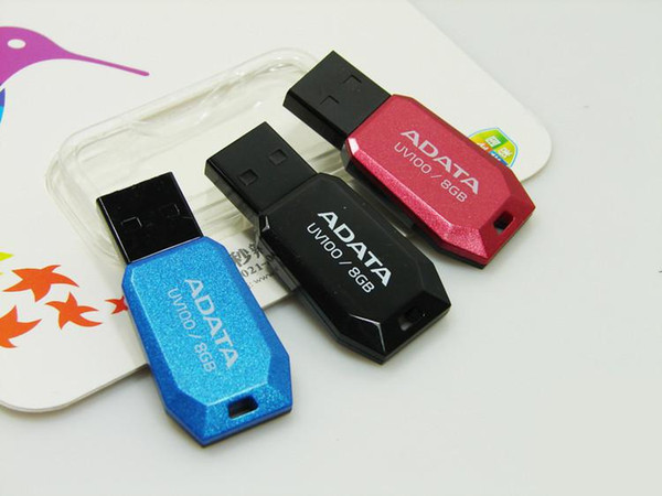 100% Real original Capacity ADATA DashDrive UV100 2GB 4GB 8GB 16GB 32GB 64GB 128GB 256GB USB 2.0 Flash Memory Pen Drive Sticks