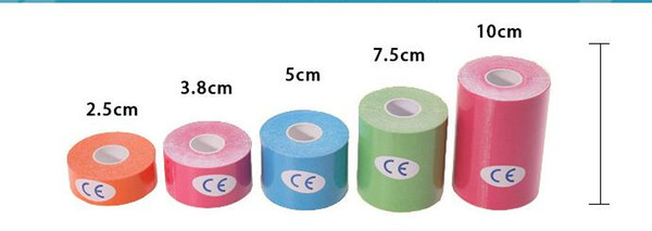 Elastic Waterproof Muscle Tape Athletic Kinesiology Tape Sports Injury Muscle Strain Protection Tapes Knee Kinesio Tape