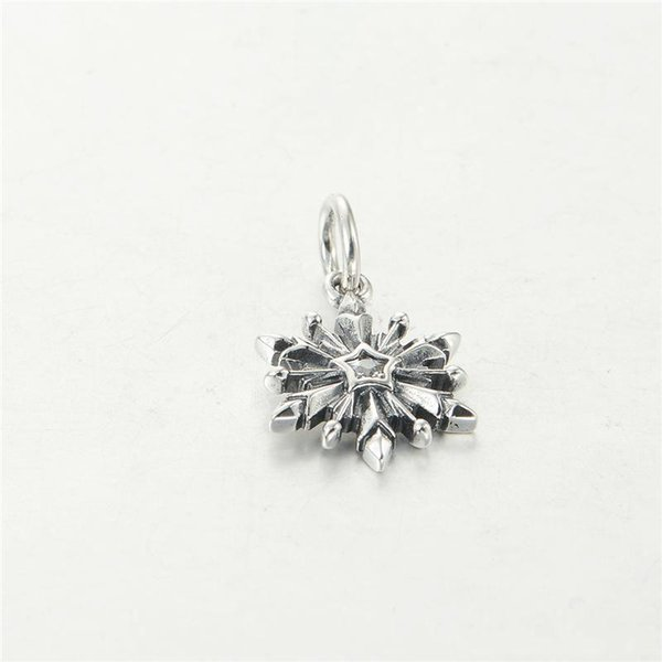 5 pcs/lot snowflake frozen charms beads authentic original S925 sterling silver fits for pandora style free shipping leaves ALELW505H8