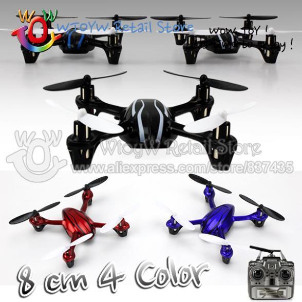 Wholesale-12pcs/lot free shipping 4 color 8cm rc remote control Mini quadcopter/quadrocopter/quadricopter/rc helicopter 6ch/plane/aircraft