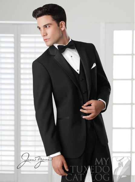 NEW High quality Men's Dress Groom Wear & Accessories groom suits Groom Tuxedos Fine workmanship, exquisite workmanship (Jacket+Pants+Vest)