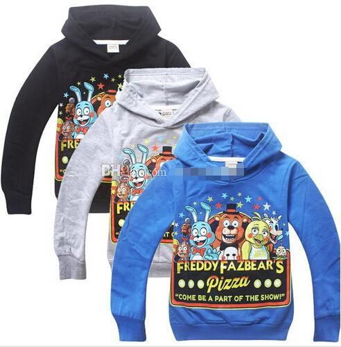 top popular 2015 new children Five Nights at Freddy's hoodies boys hooded sweatshirt jumper kids spring autumn outerwear coat fashion clothing 2019