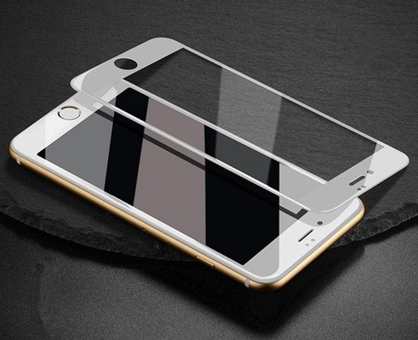 For iphone X 7plus 5D Full Cover Curved Screen Protector iphone8 7G 6s plus Tempered Glass Film Anti-Scratch 9H Hardness White Black color