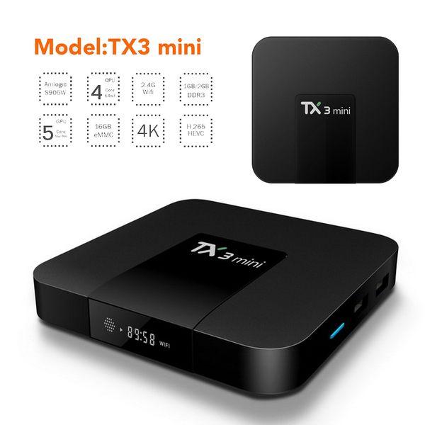 Android 8.1 OTT TV Box Tx3 Mini Amlogic S905W Quad Core 2GB 16GB Bluetooth 4.1 4K Smart Streaming Media Player
