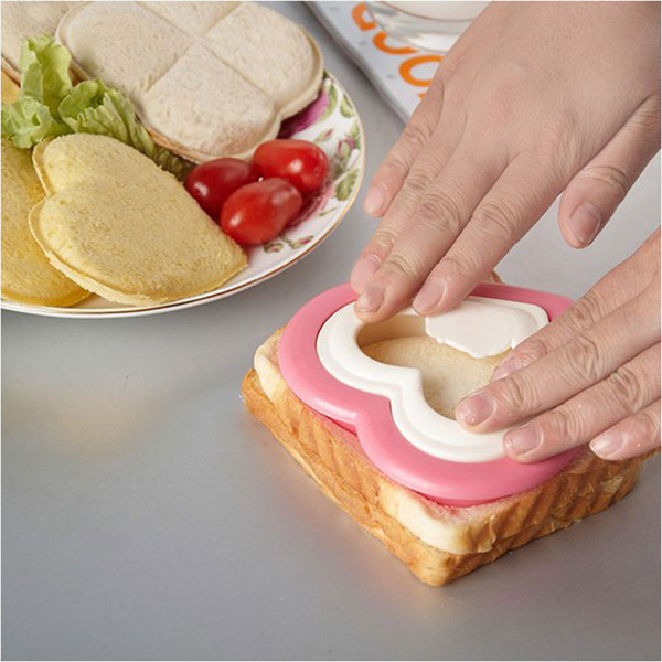 Practical DIY Heart Shape Sandwich Maker Cake Cookies Kids Lunch Bread Mould Food Cutter TY952 silicone mold cooking tools confeitaria