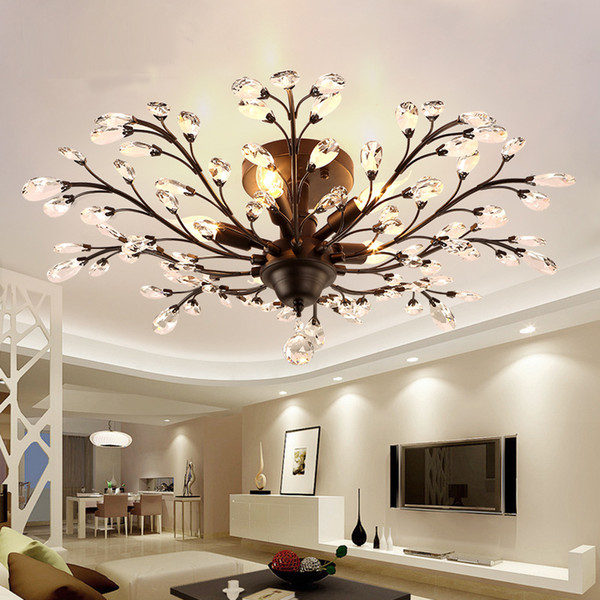 American creative living room restaurant ceiling lights bar clothing store personal lamp hotel bedroom LED crystal ceiling lamp