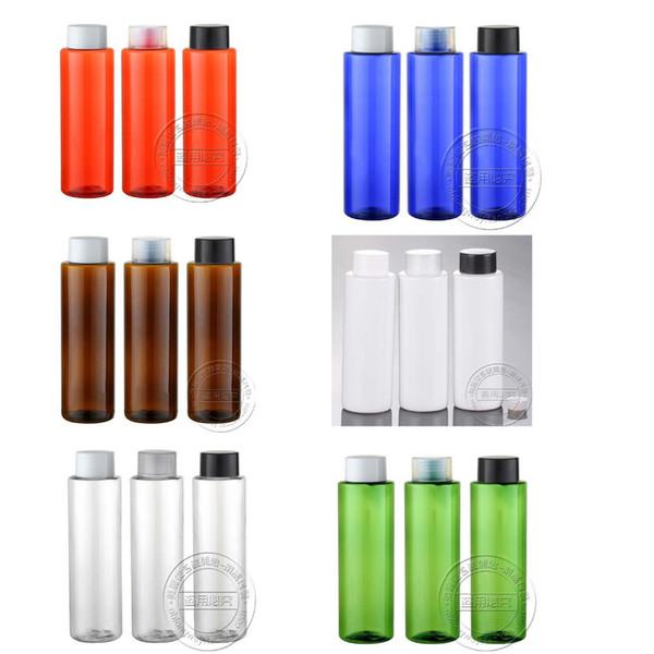 Kapazität 250ml 100pcs / lot Fabrik Großhandelsflaschenkapsel für doppeltes flaches Schulterkleid-Blumenwasser, reines Gel und andere Produkte