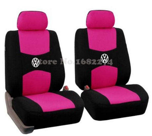 2 front seat Universal Car Seat Cover volkswagen vw passat b5 b6 polo golf tiguan 5 6 7 jetta touran touareg sticker accessories