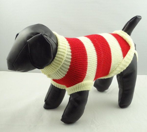 Wholesale-Apparel Personalized Cheap dog jumper sweater winter clothes knitted plaid knitted dogs Pet cat clothes Puppy Red yellowish