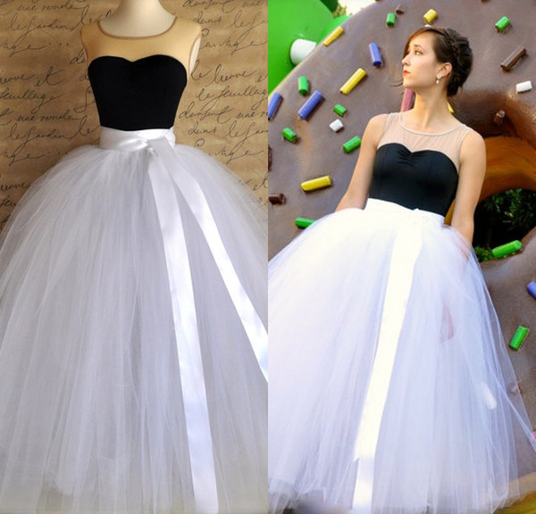 top popular 2019 New Tutu Skirt For Girls or Women Full length Sewn Unlined Tulle Skirt Weddings And Formal Wear Special Occasion Party Dresses 2019