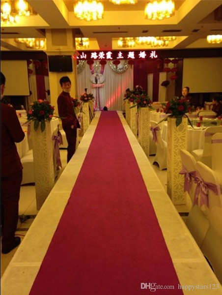 85cm Width 35m Per Roll White Non-woven Carpet Wedding Suppliers Wedding Backdrops Centerpieces Party T-Stage Carpet Decorations